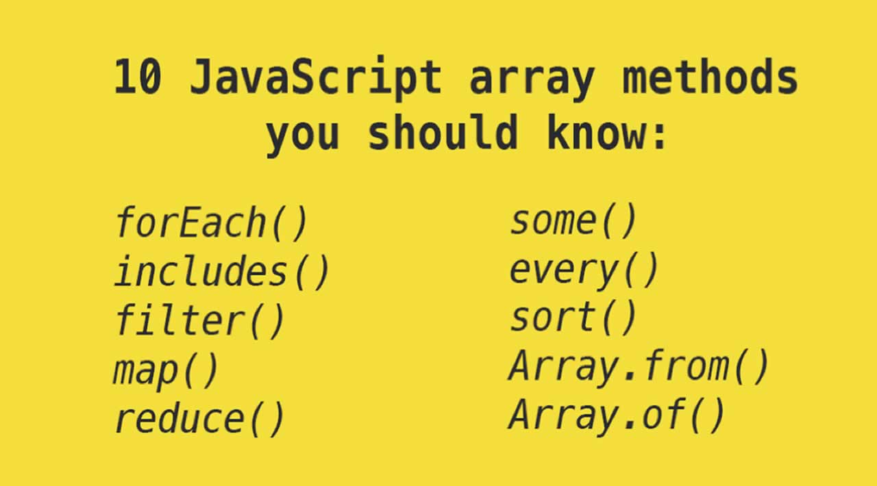 Top 10 JavaScript array methods you should know