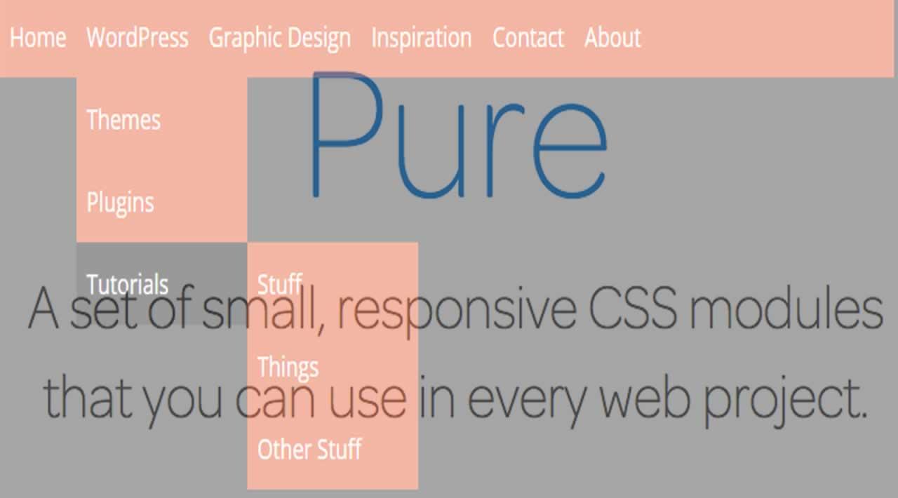 Pure CSS Dropdown Menu With Submenu