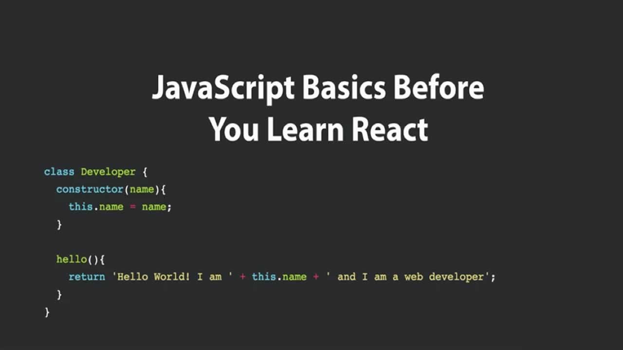 JavaScript Basics Before You Learn React