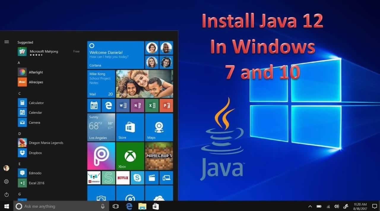 Download and Install Java 12 ( JDK 12 ) in Windows 7 and 10