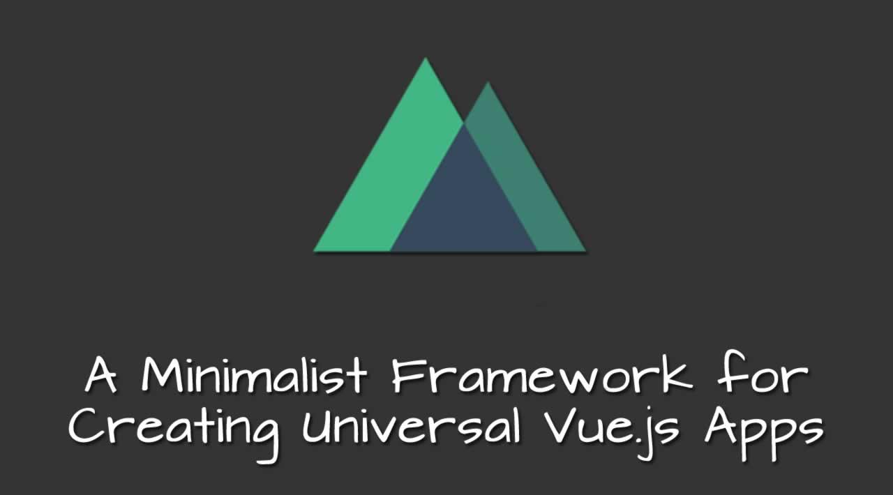 Nuxt js: a Minimalist Framework for Creating Universal Vue